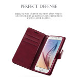 Meilleur Seller Leather Book Style Cell Phone Flip Cover Case