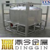 Recipiente alcalino do aço inoxidável IBC do armazenamento da solução