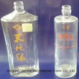Transparente Glasflasche für Wein mit Bildschirm-Drucken