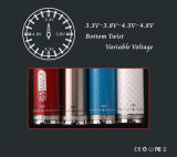 EGO II 2200mAh Variable Voltage Electronic Cigarette (EGOII Twist Kit)