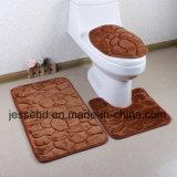 Kreatives buntes Badezimmer-Wolldecke-Set der Bad-Matten-3PCS