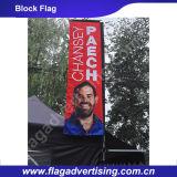 Bandeira do vôo do bloco da bandeira de praia da promoção da impressão da tela