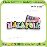 Souvenir en caoutchouc mou personnalisé d'aimants de réfrigérateur de la Malaisie de cadeaux de promotion (RC-MA)