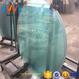 販売のための安い円形のカスタム明確な緩和されたガラスのテーブルの上