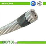 Conducteur en aluminium ACSR renforcé par acier (chien) de câble aérien d'ACSR