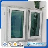 Окно окна UPVC/PVC с конструкцией двойной застеклять стеклянной
