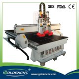 Macchina per incidere di legno di CNC del commutatore di strumento automatico