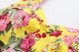 De Amerikaanse Uitstekende Online Gele Rozen drukten Kleding plus Grootte voor Vrouwen af