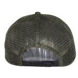Kundenspezifische grüne gestickte Baseball-Ineinander greifen-Hut-Fernlastfahrer-Schutzkappe