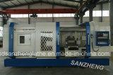 편평한 침대 CNC 도는 선반 기계 Fror 금속 /Drill /Tube (QK1343)