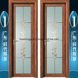 Дверь Casement ориентированной на заказчика стеклянной картины панели алюминиевая для ванной комнаты
