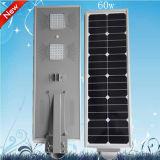 Indicatore luminoso di via solare della lampada del giardino dell'indicatore luminoso di modo economizzatore d'energia solare bianco puro LED di potere