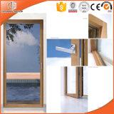 Двери складчатости твердой древесины алюминиевые, евроец высоки похвалили алюминиевая дверь металла твердой древесины Clading прикрепленная на петлях