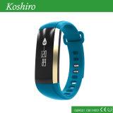 血の酸素、疲労、血圧、心拍数のモニタが付いているスマートなブレスレット。 健康のモニタの腕時計