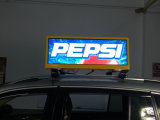 pantalla de visualización de LED de la tapa del taxi de 3G WiFi GPS, pantalla publicitaria superior del taxi