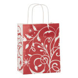 Red Gingham Printed Shoppers Custom Print Papier de haute qualité Shopping Sacs à cadeaux