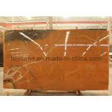Mármol de piedra de color amarillo oscuro del Onyx anaranjado de China