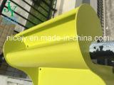 植木鉢の机プランターが付いているプラスチックバルコニー表