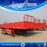 Tri-Axle 50 Tons Zijgevel Semi Trailer met 600mm Board