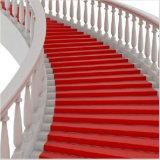 Tapete vermelho não tecido do casamento do poliéster