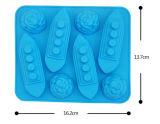 Molde lindo vendedor caliente del hielo del silicón de la prueba de la dimensión de una variable FDA