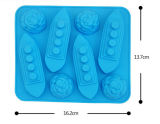 Heiße verkaufende nette Form FDA prüfen Silikon-Eis-Form