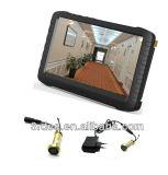беспроволочная миниая спрятанная камера CCTV обеспеченностью двери 5.8g с экраном LCD (24chs, 0.008lux, 480TVL, угол взгляда 90)