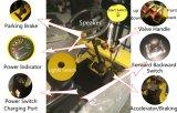 Pequeña carretilla elevadora de la batería por completo eléctrica con las ruedas del motor cuatro de la C.C.
