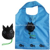Cute Animal Cat Design Vente en gros Sac à provisions de polyester économique