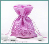 Wedding Party Baby Shower Favor를 위한 공단 Lace Sweet Chocolate Bag