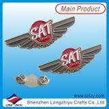 Distintivo poco costoso di Pin impresso distintivo d'argento antico di prezzi dell'ala