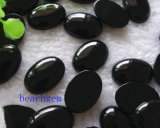 Peças De Jóias-Natural Black Onyx Cabochon