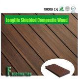 Eco WPC ricoperto legno di plastica che pavimenta Decking composito