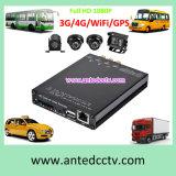 Системы карточки передвижные DVR SD канала HD 1080P 4 с WiFi/GPS/3G/4G для наблюдения видеоего автомобиля корабля