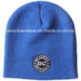 OEM Producción de logotipo bordado de punto Beanie acrílico invierno de esquí diario Beanie sombrero azul