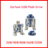 Movimentação do flash do USB do robô dos desenhos animados do USB Thumbdrive Pendrive