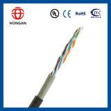 cable de datos de 0.5m m UTP Cat5e de los conductores del CCA 8