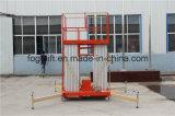200kg Mann-Arbeits-Aufzug-Aluminiumplattform der Kapazitäts-18m hydraulische