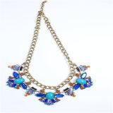 Neuer Entwurfs-blaues Ton-Form-Halsketten-Ohrring-Ring-Armband-Schmucksache-Set