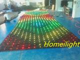 Paño video popular de la visión de la cortina LED de P18 los 3*8m LED con programa de 80 clases