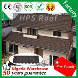 Tuiles de toit en acier enduites de grande pierre colorée d'escompte de Noël