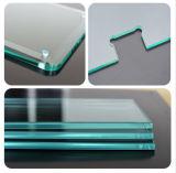 parte superior de tabela Tempred/vidro temperado do espaço livre de 8mm com borda perfeita