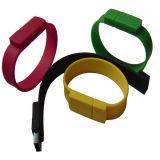 Mecanismos impulsores coloridos del flash del USB de Wristbrand