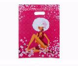 ロゴの印刷によって型抜きされるプラスチックショッピング・バッグLDPEのパンチ穴袋をカスタム設計しなさい