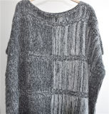 100%Acrylic Side Open Knit Cheap Women Sweater