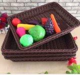 Cesta Eco-Friendly do Rattan de Inmitation da classe elevada do estilo europeu, cesta dos PP para vegetais e frutas