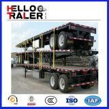 2販売のための車軸平面20FTの容器のトレーラー