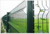 Frontière de sécurité enduite galvanisée et de PVC de treillis métallique