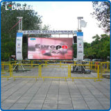 PH5.95 Aluguel exterior LED Display Screen 500X1000mm Cabinet