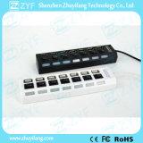 Interruttori indipendenti e mozzo Port 2.0 (ZYF4228) del USB del LED 7